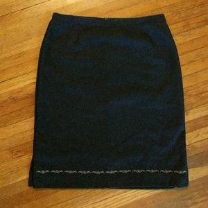 Old Navy • Wool Blend Midi Pencil Skirt